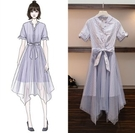 洋裝中大尺碼連身裙XL-5XL實拍大碼女...