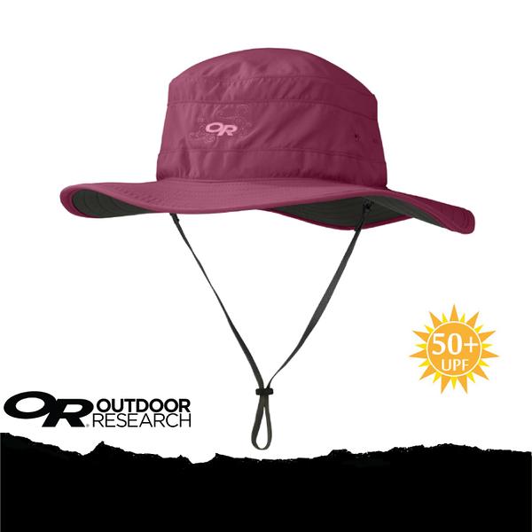 【Outdoor Research 美國 OR WOMEN S SOLAR ROLLER 抗UV透氣中盤帽《酒紅》】243442-1144/UPF50+/遮陽帽