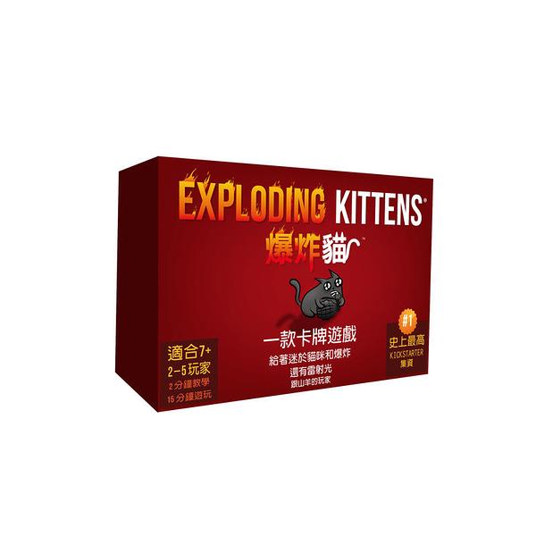 『高雄龐奇桌遊』爆炸貓 Exploding Kittens 繁體中文版 正版桌上遊戲專賣店