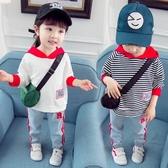 店長推薦 兒童大學T女童2018新款春秋款女寶寶帶帽長袖1一3歲秋裝嬰兒韓版潮