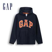 Gap男童 Logo棉質連帽休閒外套 567723-藏青色