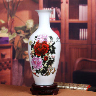 景德鎮陶瓷器薄胎瓷粉彩花瓶觀音瓶