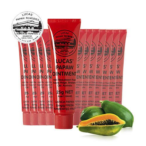 澳洲木瓜霜 Lucas Papaw Ointment 原裝進口正貨 (25g/瓶,共12入)【台安藥妝】