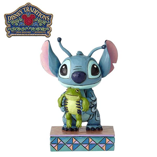 【正版授權】Enesco 史迪奇與青蛙 塑像 公仔 精品雕塑 史迪奇 Stitch 迪士尼 Disney - 939966