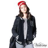 Victoria 灰紗拉克蘭長袖外套-女-黑色