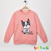 【歲末出清2件999】圖案圓領厚棉T恤07粉色-bossini女童