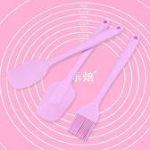 粉大號硅膠刮刀抹刀/奶油刀烘焙工具套裝鏟刀刮板刷子鏟子三件套(禮物) 七夕情人節85折