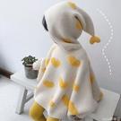 熱賣嬰兒斗篷 女童毛衣斗篷洋氣春秋新款女寶寶蝙蝠袖針織套頭毛衣外套嬰兒披風【618 狂歡】