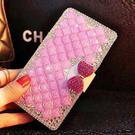 蘋果 iPhone 11 Pro Max XS MAX IX XR XS i8 Plus i7 Plus 粉色滿鑽皮套 水鑽皮套 貼鑽殼 訂製 DC