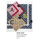 【京之物語】日本製DAKS亮細格紋女性絲巾(手帕)-粉色/卡其色/藍色