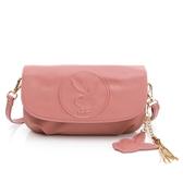 PLAYBOY- 翻蓋斜背包 BUNNY QUEEN系列-玫瑰粉色