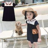 *╮小衣衫S13╭*娃娃圓領典雅短袖小洋裝1070513