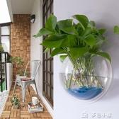 花瓶花器壁掛花盆創意吊蘭花盆綠蘿水培多肉花盆迷你小花盆墻上吊掛壁花 多色小屋
