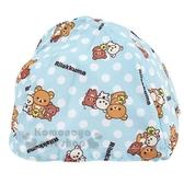 〔小禮堂〕懶懶熊 拉拉熊 安全帽內襯《淡藍.點點》機車配件.帽套 5712977-46352