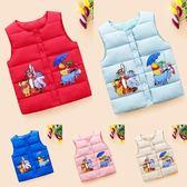 新款兒童馬甲秋冬季加厚外穿男女寶寶棉坎肩背心棉服外套 任選一件享八折