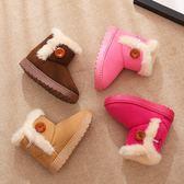 靴子 冬季新款兒童雪地靴女童短靴男童靴子寶寶加棉毛毛加絨鞋子【中秋節】