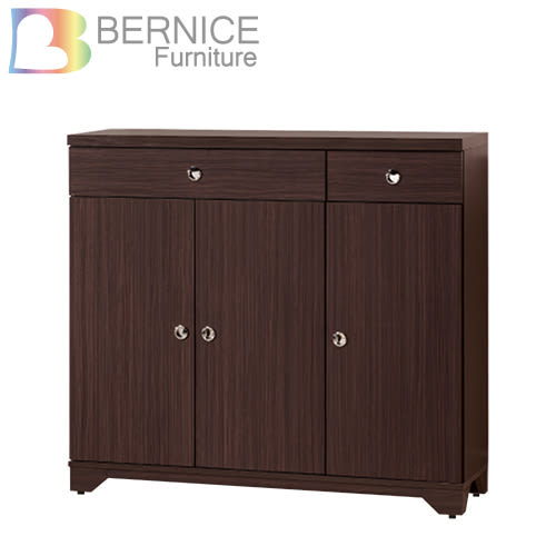 Bernice-奧斯汀4尺三門二抽鞋櫃