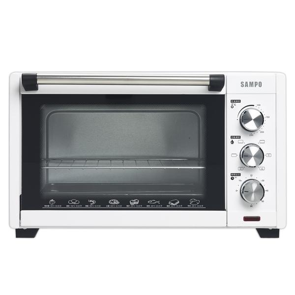 ◤A級福利品‧數量有限◢【聲寶SAMPO】30L旋風電烤箱 KZ-XJ30C