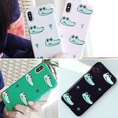 韓國 卡通鱷魚 硬殼 手機殼│iPhone 6 6S 7 8 Plus X XS MAX XR 11 Pro LG G7 G8 V40 V50│z8784