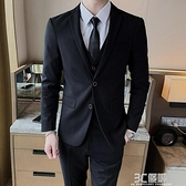 西裝外套 西服套裝男士外套韓版修身結婚新郎伴郎商務休閒職業正裝小西裝男 3C優購
