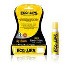 美國ECO LIPS 依蔻麗唇 天然護唇膏-檸檬味(無色_全素)