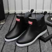 短筒雨鞋男士冬季加絨棉保暖雨靴防滑防水鞋膠鞋套鞋廚師廚房鞋-可卡衣櫃