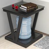 小茶几簡約迷你鋼化玻璃正方形茶几方几邊几角几客廳小桌子小方桌igo      易家樂