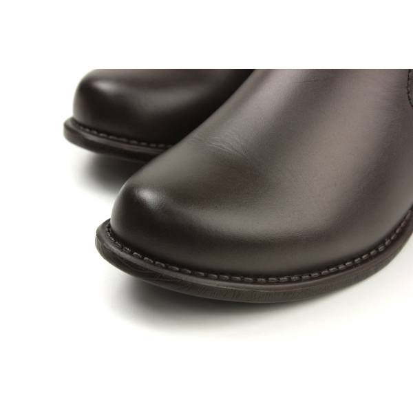 HUMAN PEACE 牛皮 拉鍊 好穿脫 中統 短靴 靴子 鐵灰色 女鞋 B6967 no318