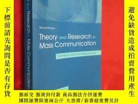 二手書博民逛書店Theory罕見and Research in Mass Com