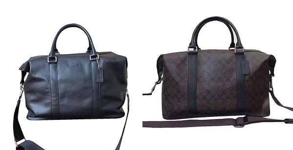 ~雪黛屋~COACH 旅行袋中容量方便放置大口國際正版保證進口防水防刮皮革品證購證塵套提袋C674651