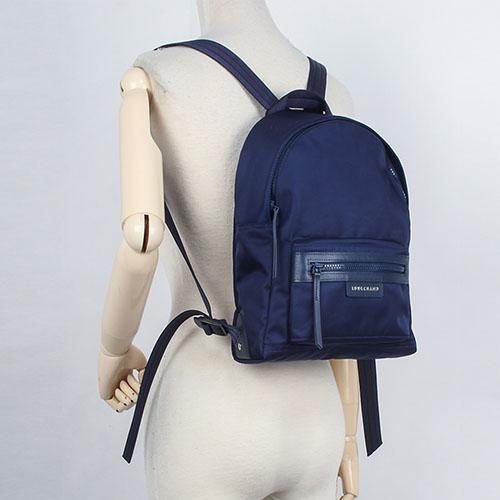 LONGCHAMP Le Pliage Neo厚尼龍小型後背包(海軍藍)480611-556