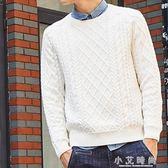 港風男士毛衣修身套頭個性大碼數毛衣百搭針織衫 小艾時尚