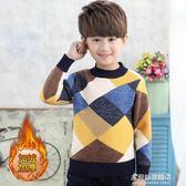 兒童毛衣男童毛衣套頭 秋冬款加絨加厚兒童針織衫6-10-12歲寶寶中大童多莉絲旗艦店