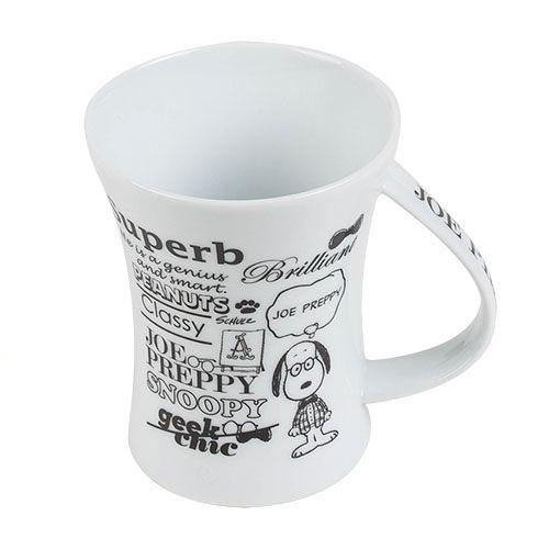 【震撼精品百貨】史奴比Peanuts Snoopy ~SNOOPY陶磁曲線馬克杯(JOE紳士)