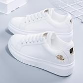 小白鞋 刺繡小白鞋女春季新款百搭韓版女鞋秋季白鞋子女學生厚底板鞋 99