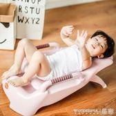 兒童洗頭椅 小孩洗頭床加大號兒童可折疊躺椅嬰兒洗發架浴床浴盆  晶彩生活