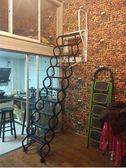 壁掛式 家用閣樓伸縮樓梯復式加厚升降室內隱形折疊樓梯手動 IGO