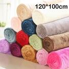 【BlueCat】純色保暖法蘭絨毛毯 懶人毯 寵物毯 嬰兒蓋毯  (100*120cm)