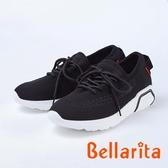 bellarita.舒適柔軟 造型編織休閒鞋(8954-95黑色)