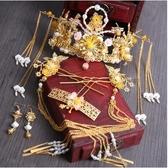 中式漢服新娘頭飾套裝流蘇