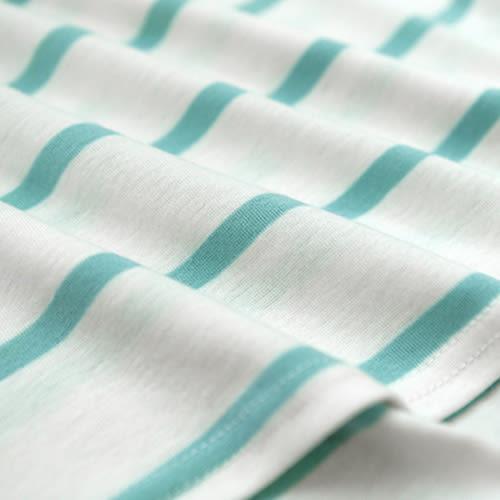MIUSTAR 橫條側開衩棉質長版上衣(共3色)【NTA029RE】預購