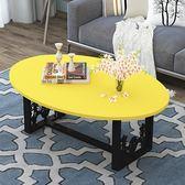 茶几 陽台茶几簡約鋼化玻璃北歐客廳現代簡易小戶型橢圓經濟型迷你桌子
