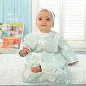 嬰兒紗布睡袋薄款純棉四季新生兒寶寶睡袋冬兒童空調防踢被 qz6599【野之旅】