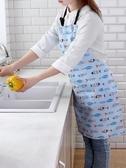 圍裙棉制廚房做飯圍裙防油防臟掛脖罩衣 家用成人雙層無袖圍腰 宜室家居
