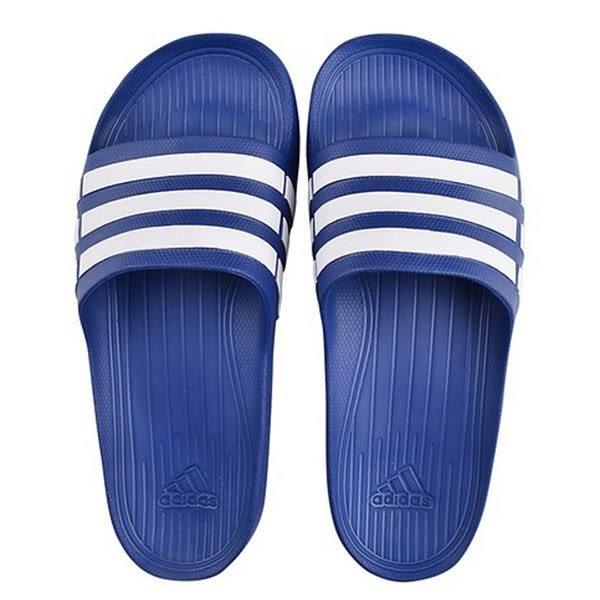 ADIDAS DURAMO SLIDE -男女款經典休閒拖鞋- NO.G14309