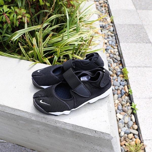 【12周年慶跨店折後$2780】NIKE AIR RIFT 忍者鞋 黑白 女鞋 日本 分趾 黑 848386-001
