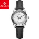 JULIUS 聚利時 小獅子流星雨貝殼面皮帶腕錶-黑色/26mm 【JA-723D】