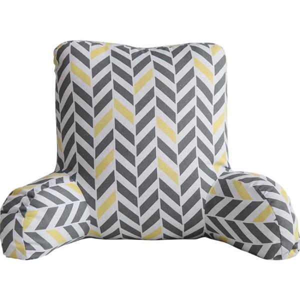 棉麻加高床頭靠枕辦公室汽車護腰靠墊椅子車內腰枕沙發大靠背墊 七色堇