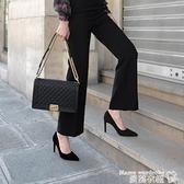 職業女鞋 高跟鞋女細跟2021春季新款女鞋小清新性感百搭職業正裝黑色工作鞋【618 購物】