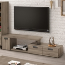 【森可家居】亞力士4~6.34尺伸縮電視櫃 9ZX379-3 長櫃 木紋質感